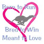 Born to Love Greyhound heart design