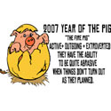 Year of The Pig 2007 T-Shirts