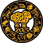 Chinese Zodiac New Year 2015 Sheep T-Shirts Gifts