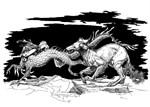 Saluki And Dragon
