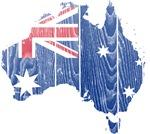 Australia Flag And Map