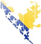 Federation Of Bosnia And Herzegovina Flag And Map
