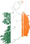 Ireland Flag And Map