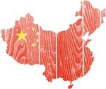 China Flag And Map