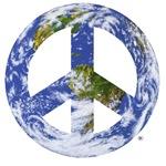 World Peace Sign Eastern Hemisphere