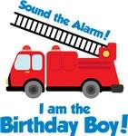 Firetruck Birthday Boy