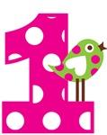 Polka Dot Bird 1st Birthday