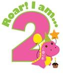 Girl Dinosaur 2nd Birthday