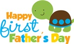 Boy turtle happy 1st fathers day