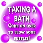Taking A Bath Pink Bubbles