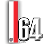64 Red White