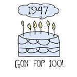 1947 60th birthday cake humor funny t-shirt gifts