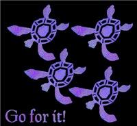 Violet Baby Sea Turtles