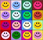 Multicolor Smiley Pattern