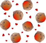 Robins and Hearts Pattern