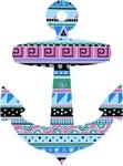Blue Tribal Anchor