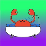 Crab in Tub (Green/Purple)