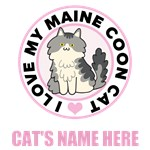 Personalized Maine Coon Cat T-Shirts