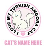 Personalized Turkish Angora Blue Cat Lover T-Shir