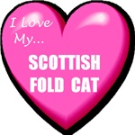 I Love My Scottish Fold Cat