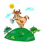 Cute Carnation Cow