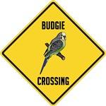 Budgerigar Crossing Sign