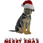 German Shepherd Puppy Christmas