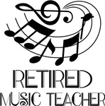 Retired Music Teacher T-shirts and Gifts