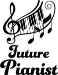 Future Piano Player children's music shirts