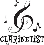 Clarinetist Music Logo Gifts
