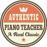 Piano Teacher Music Vintage Tees