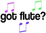 Colorful Got Flute T-shirts And Gifts