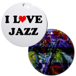 Jazz and Blues Music Christmas Ornaments
