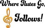 Flutes Go Treble Follows Band T-shirts
