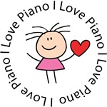 I Love Piano T-shirts and gifts
