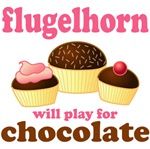Flugelhorn Chocolate Slogan T-shirts