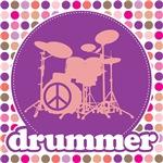 Mod Music Drummer T-Shirts Apparel