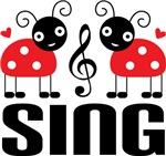 Ladybug Music Sing T-shirts