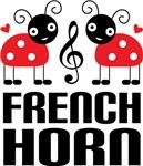 Cute Ladybug French Horn Tees