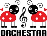 Red Ladybug Orchestra T-shirts and Music Gifts