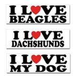 I Love My Pet Bumper Stickers