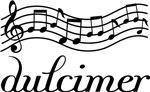 Dulcimer Musical Staff Music T-shirts