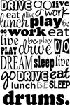 DRUMS Eat Sleep Work Play Music T-shirts