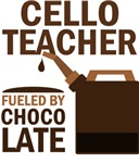 CELLO TEACHER GIFT Chocolate T-shirts