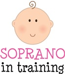 SOPRANO IN TRAINING Baby Music T-shirts