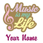 PERSONALIZED MUSIC QUOTE GIFTS AND APPAREL