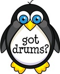 Drums Music Penguin T-shirts and Gifts