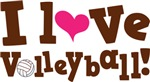 Cute I Love Volleyball T-shirts
