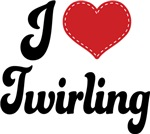I Heart Twirling T-shirts and Gifts