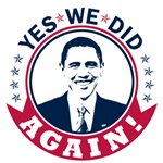 Obama Yes We Did Again Color